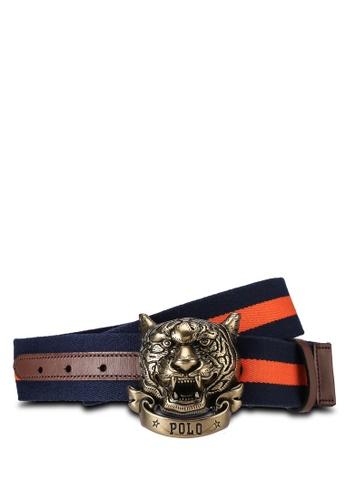 Polo Ralph Lauren blue Tiger Web Casual Belt BE862ACA990B5FGS_1
