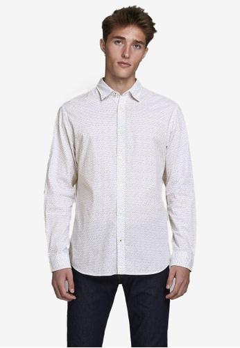 Jack & Jones white Poplin Long Sleeve Shirt F0699AA6CB6787GS_1