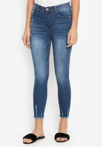 Balaynor blue High Waist Jeans with Acid Wash Design 86674AA2DEC6F0GS_1