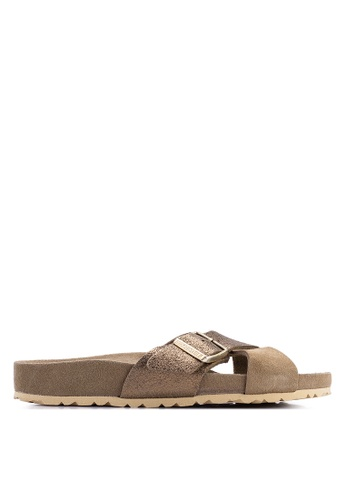 f8f4f99fcbf1 Birkenstock brown Siena Exquisite Suede Leather Sandals C49C1SHB0FBDC7GS_1