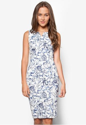 Olivia 花卉貼身洋裝, 服esprit專櫃飾, 服飾