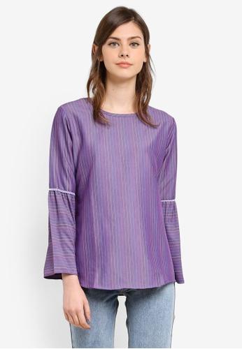 Wafiyya by Dollscarf purple Blouse Camellia WA375AA0S75QMY_1