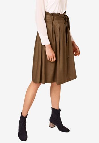 ESPRIT beige Woven Midi Skirt C2DE0AAD0EE3B0GS_1