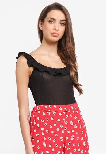 aefd981fe239f0 Buy Miss Selfridge Plisse Ruffle Body Top Online | ZALORA Malaysia