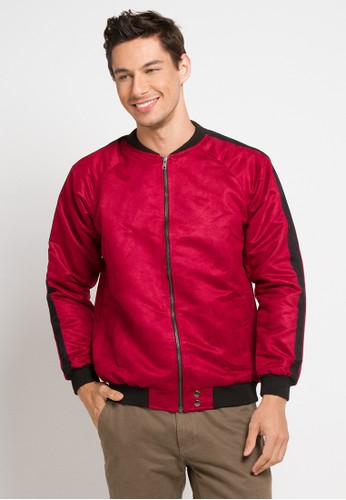AUTIV.FIXIN red Suede Stripe Jacket Victory E83A1AA8D40A3CGS_1