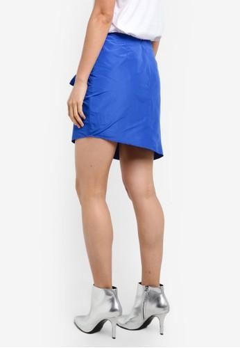 Miss Selfridge blue Blue Ruffle Mini Skirt MI665AA0S2L9MY_1