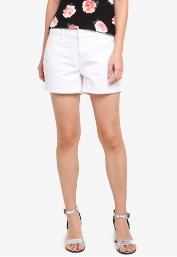 Dorothy Perkins white White Denim Boy Shorts A2F95AAE44454CGS_1