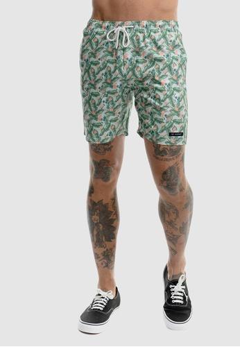 VACANCY CO green Floral Skull Swimshorts 331EFAAD16B90AGS_1