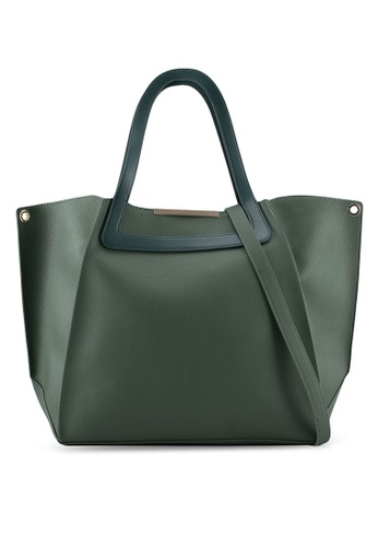 ZALORA green Structured Medium Size Tote Bag 8E113ZZAF5212EGS_1