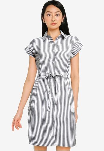 ZALORA BASICS multi Drawstring Shirt Dress 6B78EAA0E86E9EGS_1