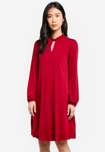 Wallis red Berry Keyhole Detail Swing Dress WA800AA0SHKDMY_1