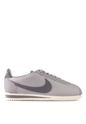Nike grey Women's Nike Classic Cortez Leather Shoes NI126SH0STS2MY_1