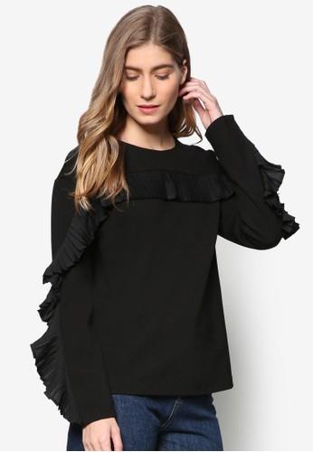 荷葉zalora taiwan 時尚購物網鞋子飾長袖衫, 服飾, 外套