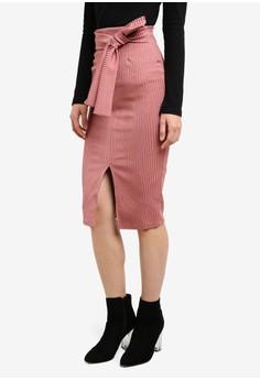 harga Obi Belt Bonded Rib Pencil Skirt Zalora.co.id
