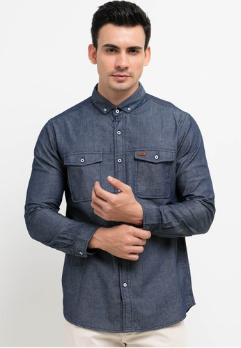 Lois Jeans blue Cotton Shirts E8F78AA76B833EGS_1