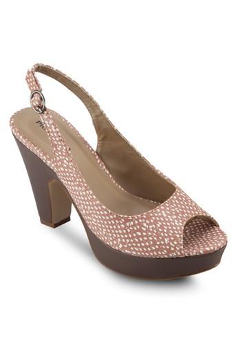 Stacey 厚底露趾高跟鞋,esprit 會員 女鞋, 厚底鞋