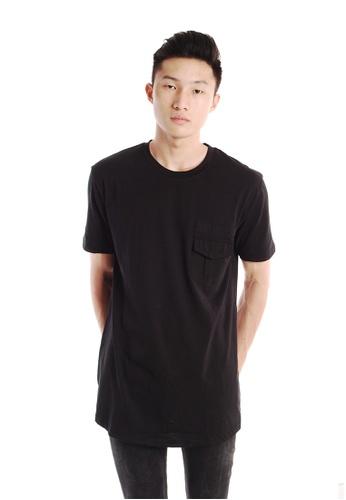 Praise black Pocket T-shirt PR067AA09HNMSG_1