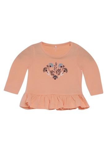 NAME IT orange Nellie Long Sleeves Printed Top 69116KA44C500DGS_1