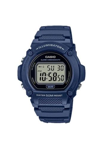 Casio blue CASIO GENERAL W-219H-2AVDF MEN'S WRISTWATCH B4162AC666FCC8GS_1