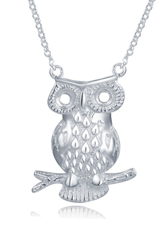MBLife silver 925 Sterling Silver Owl Pendant Necklace 6873FACD77F6BDGS_1