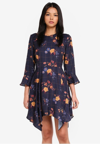 The Fifth Label multi and navy Syllabus Dress 30732AAC188F27GS_1