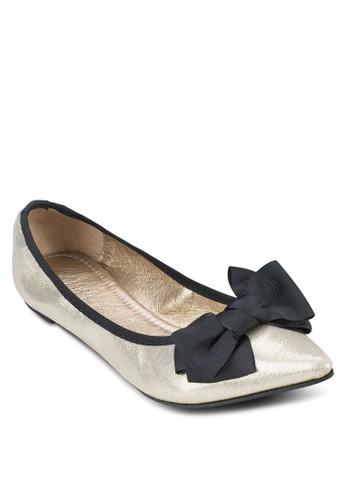 Alice 蝴蝶結亮面平底鞋, 女鞋,zalora 心得 鞋