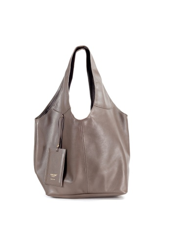 Shu Talk brown Italian Made Leather Slouch Hobo Tote Bag A7CB6ACF041711GS 1 d90799b38c218