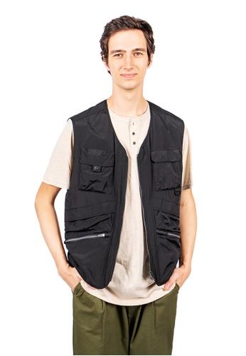 East Pole black Men's 15 Pockets Fishing Vest 69C25AAE12A538GS_1