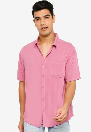 Cotton On pink Cuban Short Sleeve Shirt F00D7AAFB52AD3GS_1