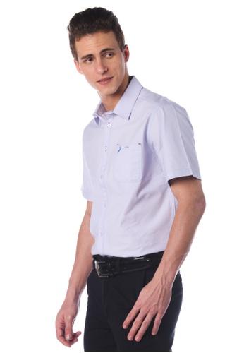 POLO HAUS blue Polo Haus - Short Sleeve Shirt (Light Blue ) PO783AA86JNTMY_1