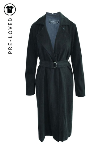 Reformation black Pre-Loved reformation Black Suede Trench Coat 3DBC9AA2A1F8DEGS_1