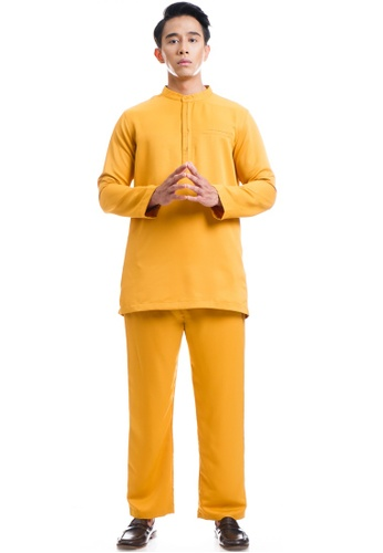 Ashura yellow Daim Baju Melayu Layered Button 68680AA8E9AE7AGS_1