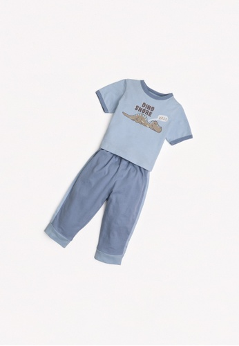 Gingersnaps blue Baby Boys Track Pants Set FCC13KA00F9EB9GS_1