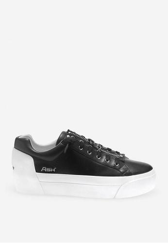 ASH silver Buzz - Black Zip Sneaker F65BBSH4C43742GS_1