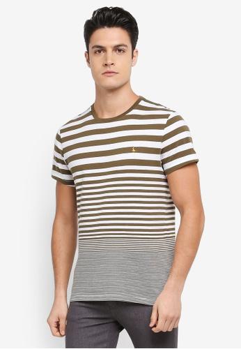 Jack Wills green Sawmills Stripe T-shirt AC45EAAE5A5800GS_1