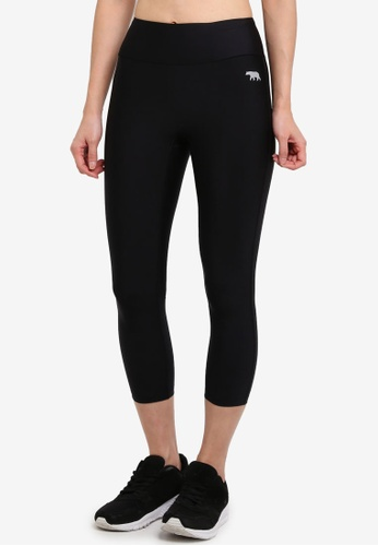 Running Bare black 7/8 Tights With Hip Pocket B4E52AA637FF1AGS_1