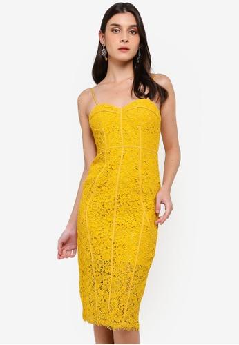 Bardot yellow Sophia Lace Dress A1DD0AA5AFB0B6GS_1