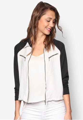 拉克esprit outlet 香港蘭撞色長袖外套, 服飾, 上衣