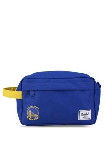 Herschel yellow and blue Chapter Travel Pouch (Golden State Warriors) 87455AC5CAA172GS_1