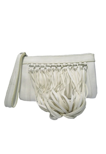 Club West white Carlos By Carlos Santana Julietta Wristlet Clutch Bag CL139AC25YLEPH_1