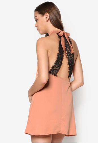 蕾絲削背寬擺連身裙, 服飾, esprit高雄門市洋裝