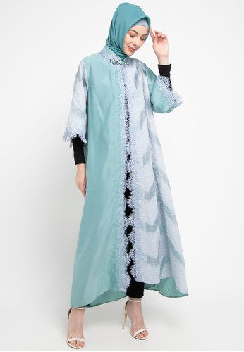 LUIRE by Raden Sirait green Ms Coat Monic Panjang Lvog 6B427AA35842B4GS_1