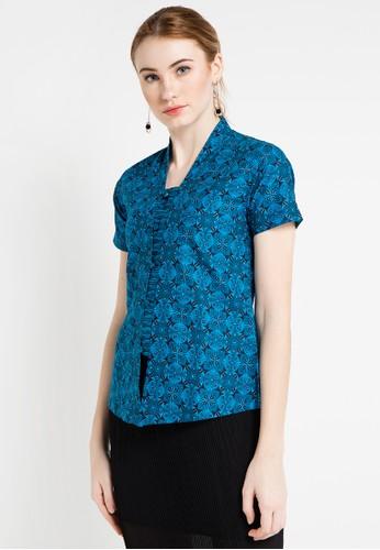 Batik Indra Loka blue Short Sleeve Blouse Kelir 704E7AAF08FB02GS_1
