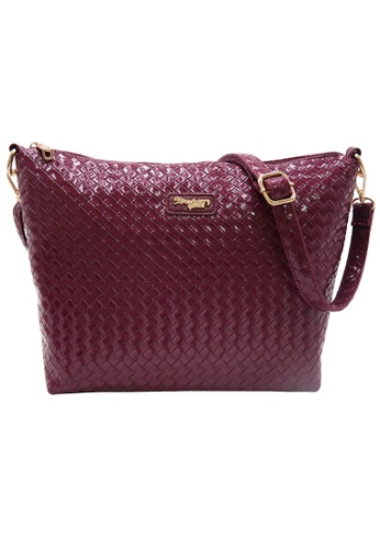 STRAWBERRY QUEEN red Strawberry Queen Flamingo Sling Bag (Rattan Z, Shiny Maroon) BC2D1AC27CF041GS_1