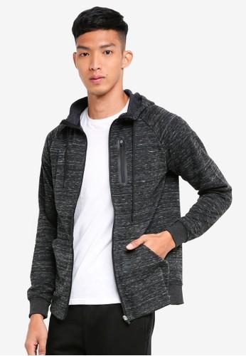 Only & Sons grey New Vinn Zip Sweatshirt 9CEC8AAFD2578EGS_1