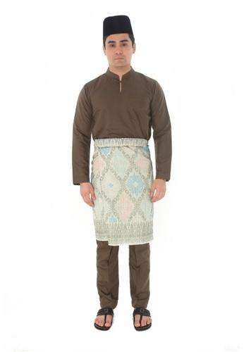 Amar Amran green Baju Melayu Gumbae 24647AA4BB8013GS_1