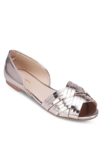 zalora taiwan 時尚購物網鞋子露趾包跟平底鞋, 女鞋, 鞋