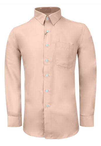 Pacolino white and red Bundle Pack 2 in 1 – Casual-Smart Long Sleeves Plain Shirt 2E358AA40DD452GS_1