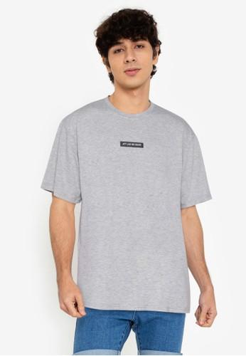 ZALORA BASICS grey Jet Lag No More T-Shirt F1077AAF911B81GS_1