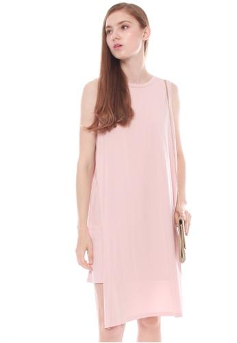JOVET pink Side Slit Dress F034CAABE7D5F0GS_1